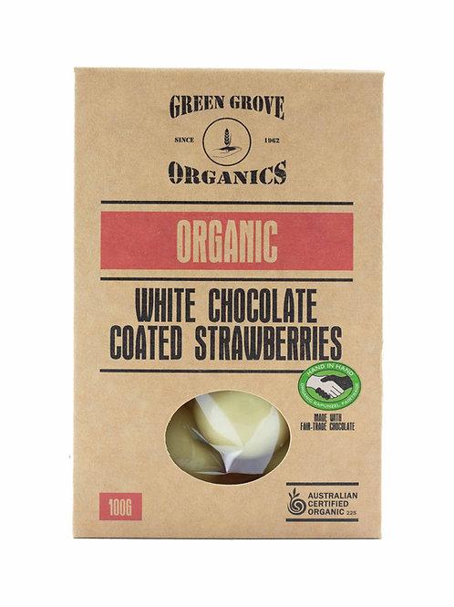 White Chocolate Coated Strawberries