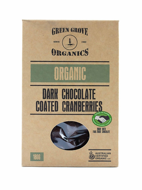 Dark Chocolate Coated Cranberries