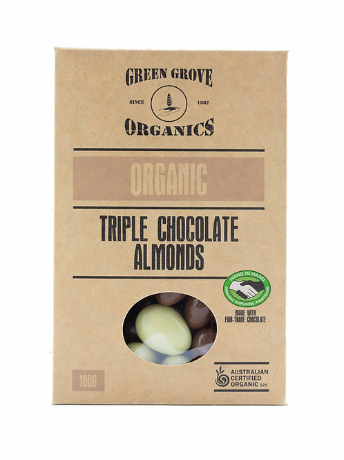 Triple Chocolate Coated Almonds