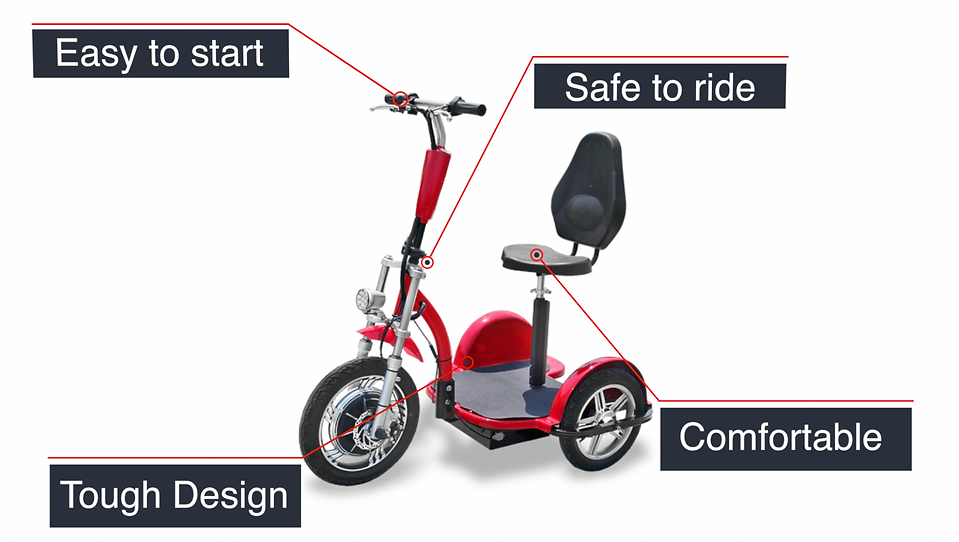 Triad Electric Personal Scooter Vehicle