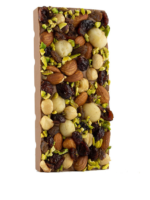 Fruit and Nut Chocolate Block