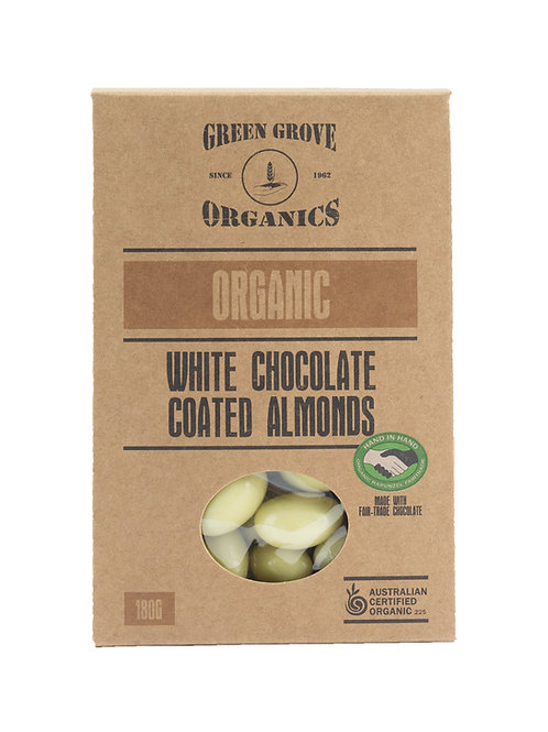 White Chocolate Coated Almonds