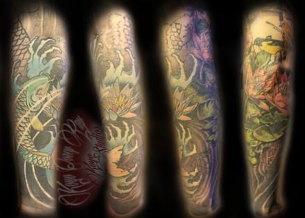 Forearm of Japanese sleeve