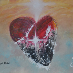 Sacred-Heart Watercolor Commission