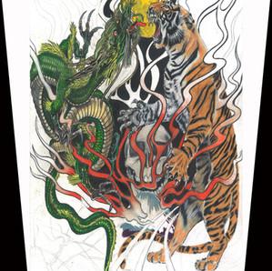 Dragon-Tiger Artwork