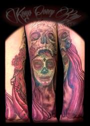 Dia de los Muertos with skull