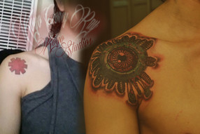 Bio-mech styled Cover-Up