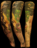 Finished Wicked Witch/OZ sleeve