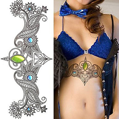 copy of Temporary Tattoo Bathing Suit Accents Choose From 10 Different Styles