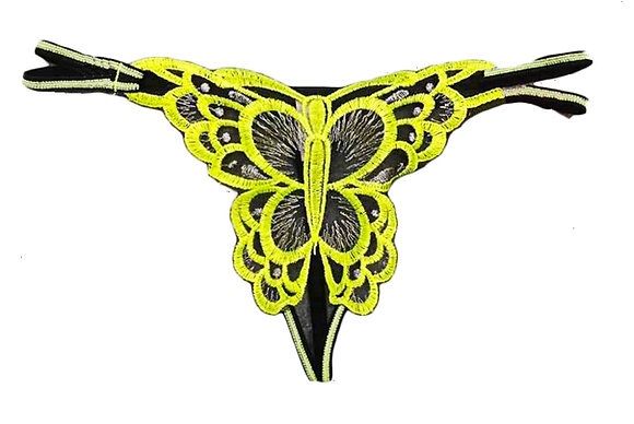 Pack of 3 different Sexy Embroidery Thongs, Crotchless Hot Erotic  Underwear