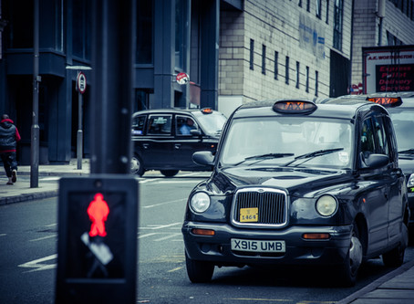 Hire the traditional London black cab for film work
