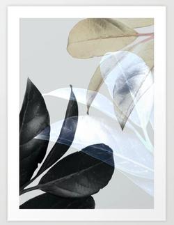 Moody Leaves II Art Print
