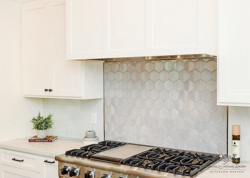 iridescent backsplash
