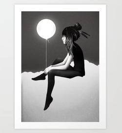 No Such Thing As Nothing Night Art Print
