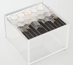 Charcoal Hexagons Acrylic Box