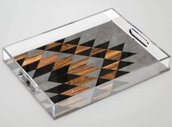 Urban Tribal Pattern Acrylic Tray