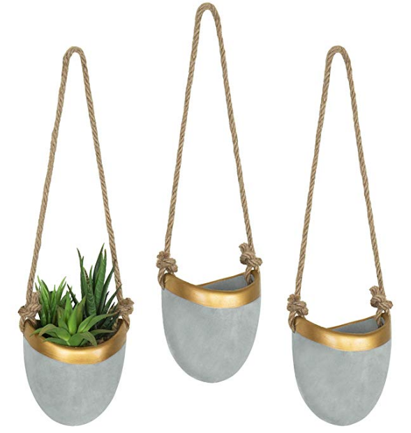 Modern Hanging Wall Planters Set
