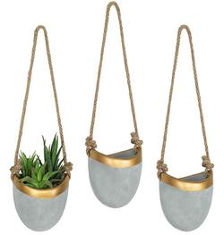 Modern Hanging Wall Planters Set