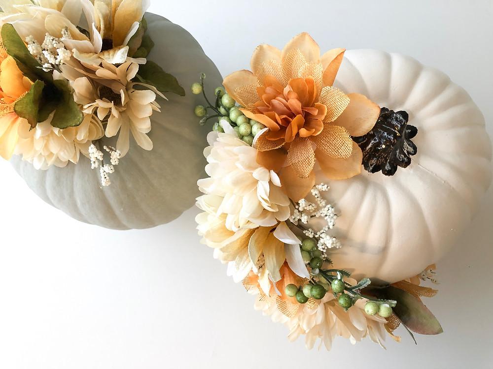 Floral Pumpkin Centerpiece