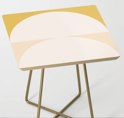 Abstract Geometric Side Table