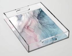 Calming Pastel Flow Acrylic Tray