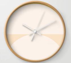 Abstract Geometric Wall Clock