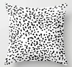 Dalmatian Spot Throw Pillow