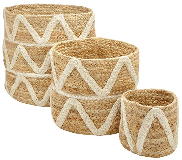 Braided Basket Planter Set of 3
