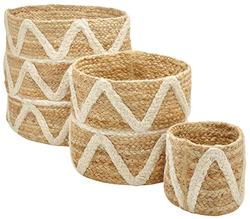 Braided Basket Planter Set of 3