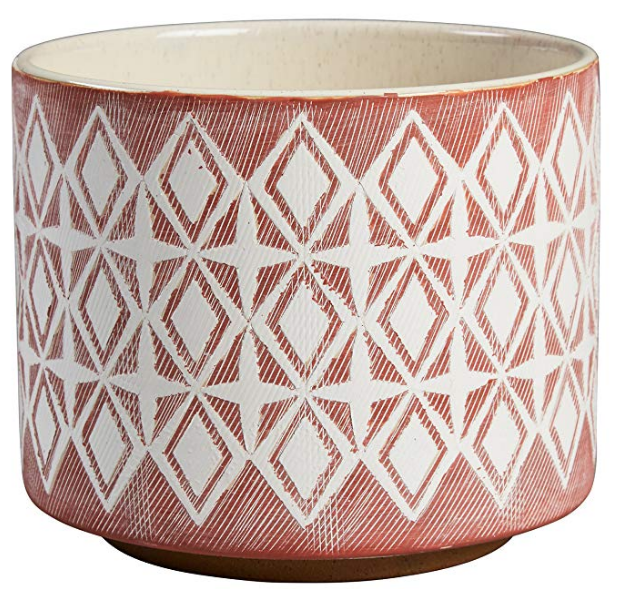 Rose Geometric Ceramic Planter