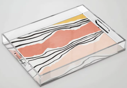 Modern Irregular Stripes Acrylic Tray
