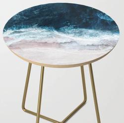 Blue Sea Side Table