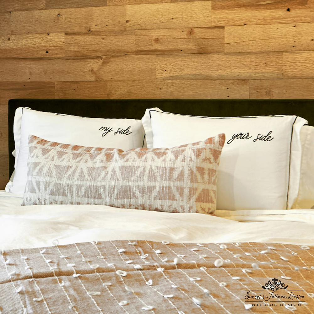 textured neutral bedding