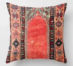 Antique Turkish Kilim Throw Pillow