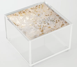 Gold Hide Print Metallic Acrylic Box