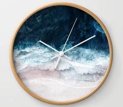 Blue Sea II Wall Clock