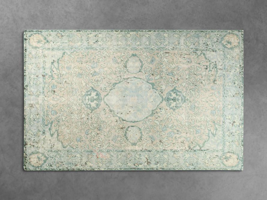vintage aqua rug