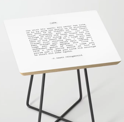Life Quote Side Table