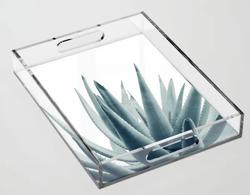 Agave Blue Vibe Acrylic Tray
