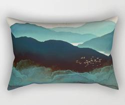Indigo Mountains Pillow