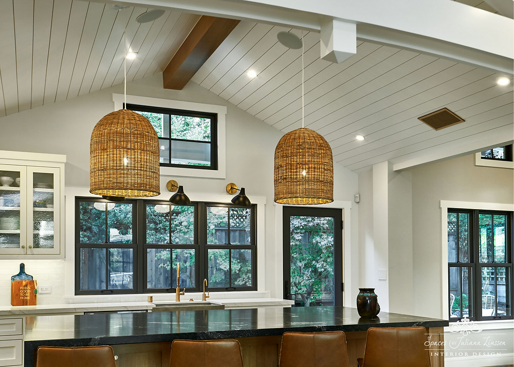 rattan kitchen lighting