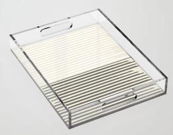 Brush Lines Pattern Acrylic Tray