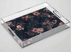 Japanese Boho Floral Acrylic Tray