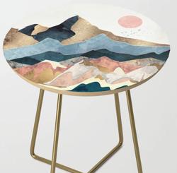 Golden Peaks Side Table