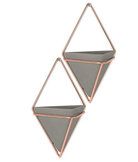 Rose Gold Hanging Planter Vase