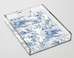 Powder Blue Chinoiserie Acrylic Tray