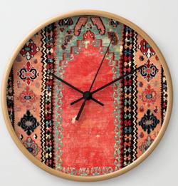 Sivas Kilim Print Wall Clock