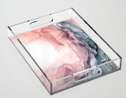 Blush and Blue Dream Acrylic Tray