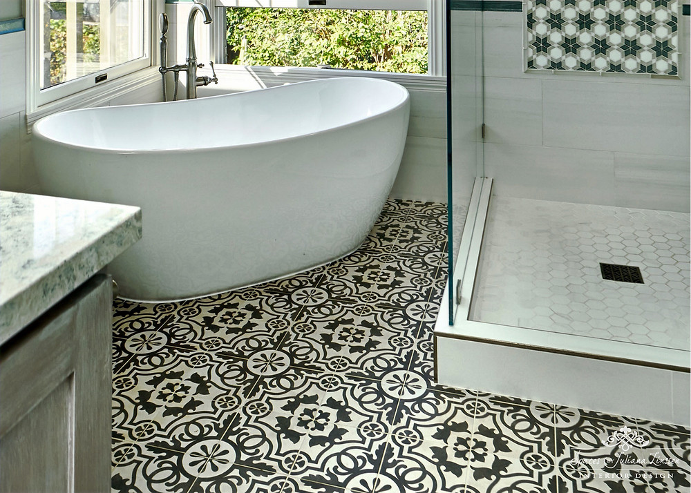ceramic tile flooring bathroom