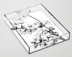 Cherry Blossoms Acrylic Tray